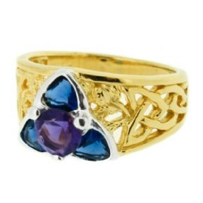 Vintage Ring with Amethyst and Sapphire colour stones 9903